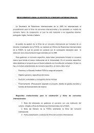 procedimiento para la gestión de convenios internacionales