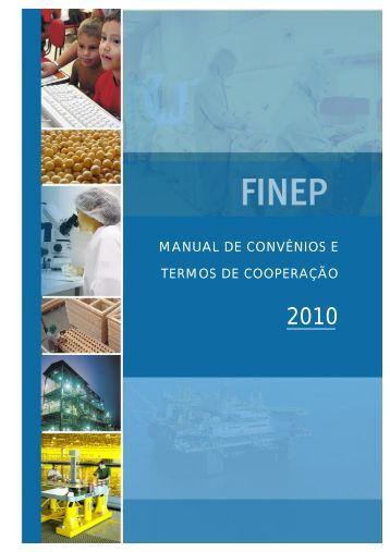 Manual de Convênios e Termos de Cooperação FINEP - CGU