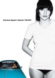 Download Catalogue (5 MB) - American Apparel