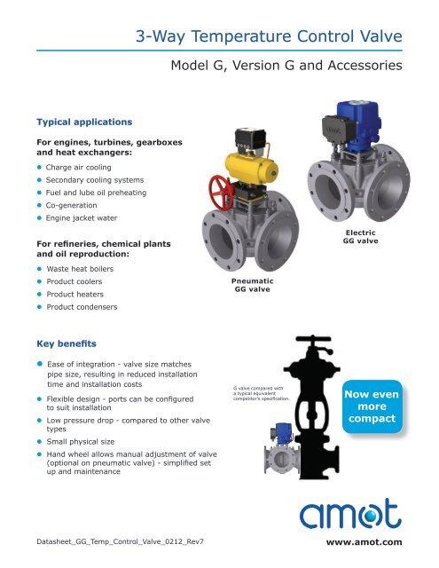 3 way air valve diagram 3 way temperature control valve amot  3 way temperature control valve amot