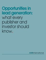 Opportunities in lead generation: what every ... - AMR International