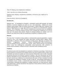 Informe de investigacion Bullyng - Colegio Nacional Nicolas Esguerra