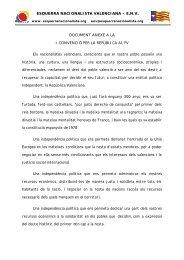 anexe d'env a la i convenció per - Esquerra Nacionalista Valenciana