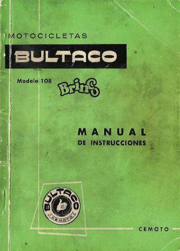 Bultaco Brinco Mod 108 Manual Instrucciones - Lamaneta