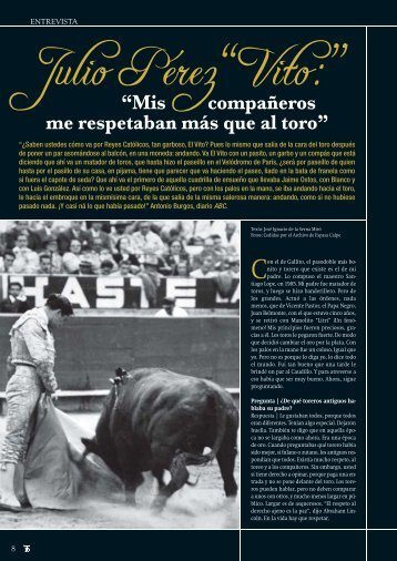 """Julio Pérez """"Vito"""" - Las Ventas"""