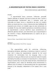 a argumentação em textos orais e escritos - Secretaria de Estado da ...