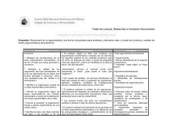 Programa de estudio - Portal Académico del CCH