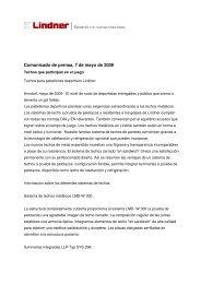 Lindner_Comunicado de prensa_techos que ... - Lindner Group