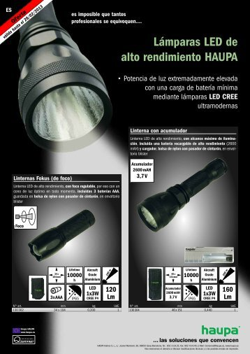 LED lámpara PDF download - Haupa