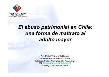 El abuso patrimonial en Chile: una forma de maltrato al ... - Senama