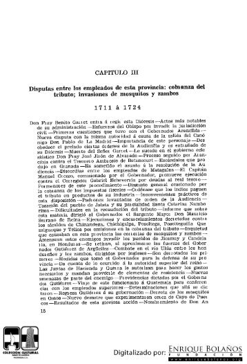 Historia de Nicaragua Tomás Ayón Tomo1 Libro7 cap.3 Disputas ...