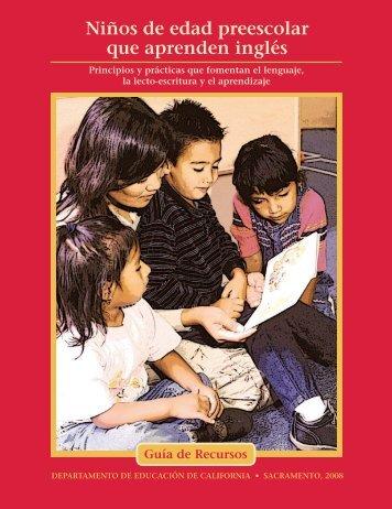 Preschool English Learners Spanish - California Department of ...