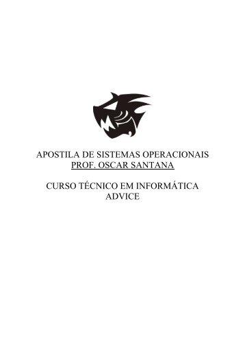APOSTILA DE SISTEMAS OPERACIONAIS - Apostilas