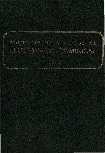 COMENTARIOS BÍBLICOS al Leccionario Dominical