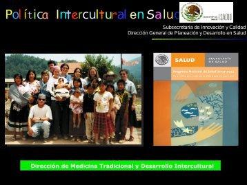 Interculturalidad en Salud - Dirección General de Planeación y ...