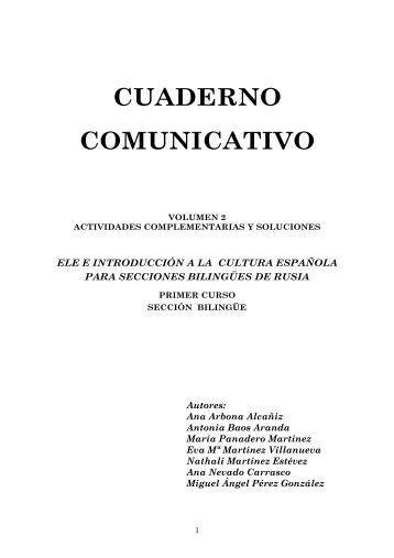 cuaderno comunicativo - Ministerio de Educación, Cultura y Deporte