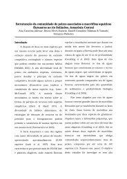 Estruturação da comunidade de peixes associados a ... - PDBFF - Inpa