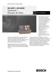 NV-653T y NV-652R Transmisor / Receptor de Vídeo - Bosch ...