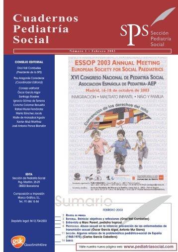 Sumario - Sociedad Española de Pediatría Social