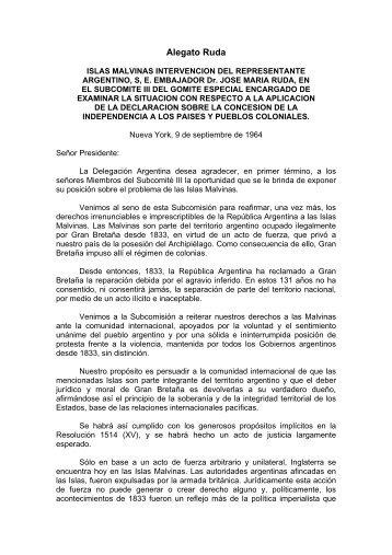 Alegato Ruda - Ministerio de Relaciones Exteriores y Culto