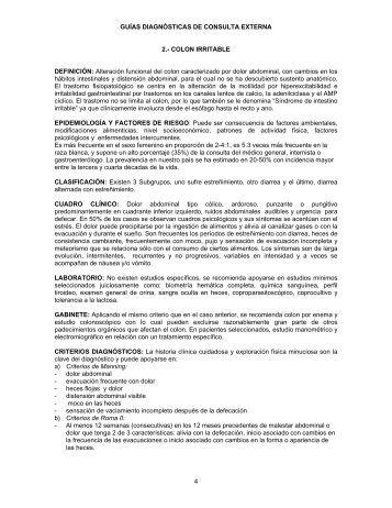 colon irritable - Hospital General de México