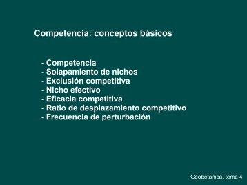 Competencia: conceptos básicos