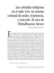 Las cofradías indígenas en el siglo xviii, un sistema colonial de ...