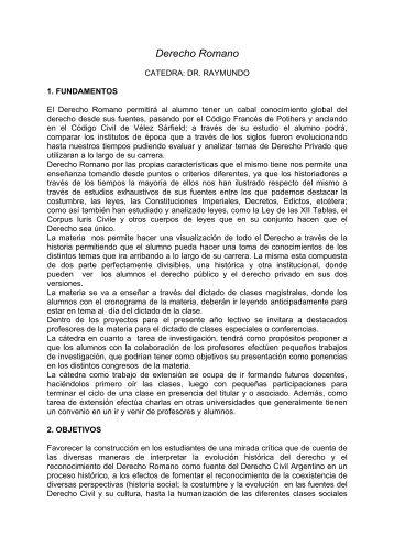 Derecho Romano - Dr. Raymundo - Planeta Ius