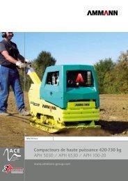 Compacteurs de haute puissance 420-730 kg APH 5030 ... - Ammann