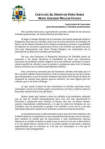 Convivencia de Cuaresma para Hermandades y Cofradías ...