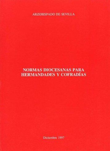 Normas Diocesanas para Hermandades y Cofradías de Sevilla