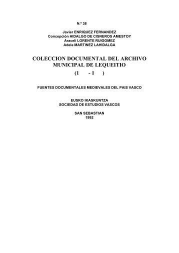Colección Documental del archivo municipal de Lequeitio (1325 ...