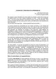 COGNICIÓN Y PROCESOS DE APRENDIZAJE De regreso a casa ...