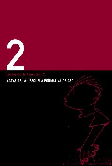 actas de la i escuela formativa de animación sociocultural - Instituto ...
