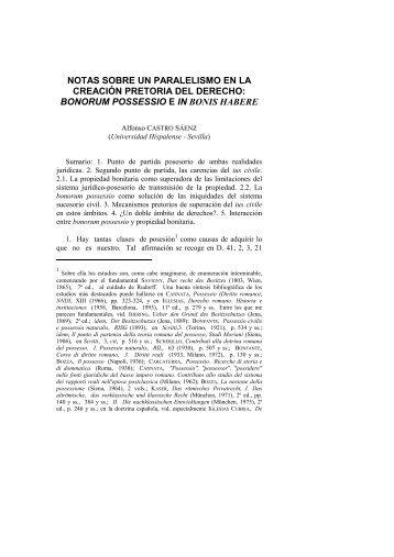 notas sobre un paralelismo en la creación pretoria del derecho