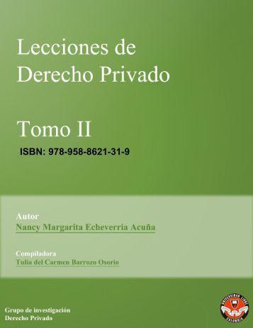 Lecciones de Derecho - Universidad Libre Sede Cartagena