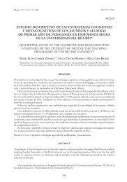estudio descriptivo de las estrategias cognitivas y metacognitivas de ...