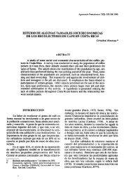 estudio de algunas variables socioeconomicas de los recolectores