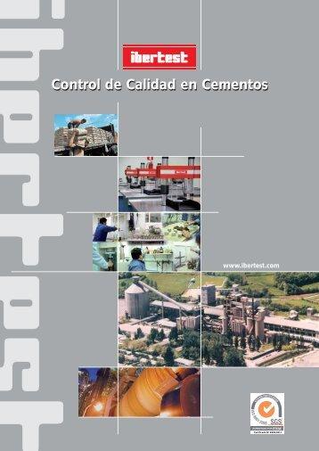 Catálogo general de Equipos de Cemento