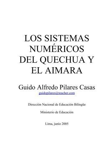 Los Sistemas Numéricos del Quechua y del Aimara - Portal de ...