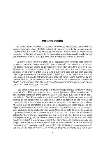 Archivo Municipal de Salinas de Añana - Gesaltza. Documentos ...