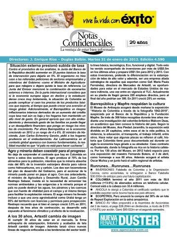 Situación externa presionó subida de tasa Agro ... - Fenalco Antioquia