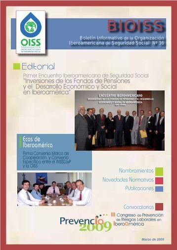 bioiss nº 36 - Organización Iberoamericana de Seguridad Social