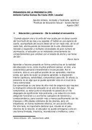 Pedagogía de la Presencia (PP) por Antonio Carlos ... - ECAPSocial