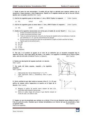 Rumbo al 2° examen parcial - UNAM