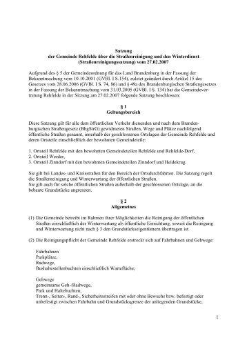 Strassen270207 - Amt Märkische Schweiz