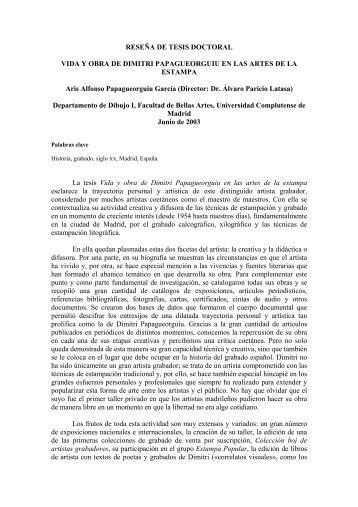 RESEÑA DE TESIS DOCTORAL VIDA Y OBRA DE ... - CES Felipe II