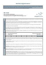 Wesentliche Anlegerinformationen - Ampega Investment AG