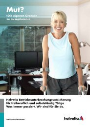 Helvetia Betriebsunterbrechungsversicherung für freiberuflich und ...