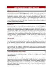 PREGUNTAS FRECUENTES SOBRE IPv6